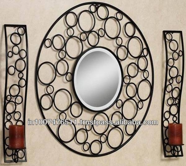 Decorative Wrought Iron Mirrors, Decorative Wrought Iron Mirrors Inside Rod Iron Mirrors (#7 of 15)