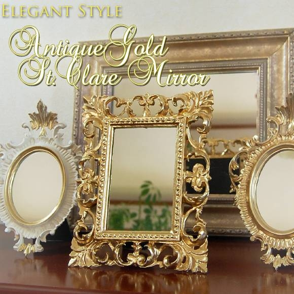 Decorplus | Rakuten Global Market: Antique Gold Sun Air Classic In Gold Shabby Chic Mirrors (#12 of 15)