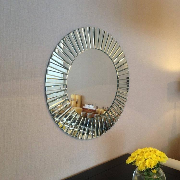 Inspiration about Deknudt Cheerful, Round Design Mirror, 'sunny' – Wilhelmina Designs Pertaining To Designer Round Mirrors (#15 of 20)