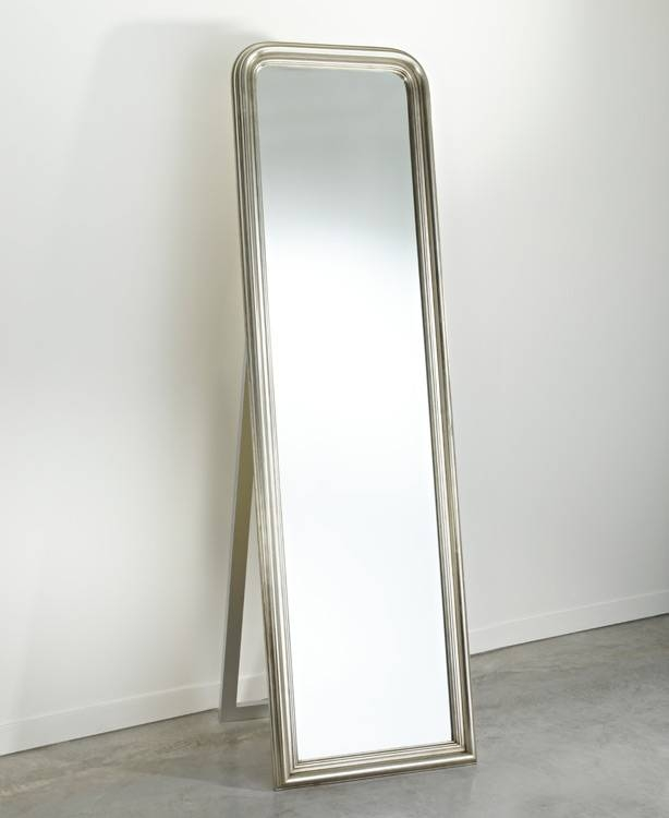 Deknudt Contemporary Full Length Free Standing Silver Mirror |4Living Throughout Full Length Silver Mirrors (#4 of 20)