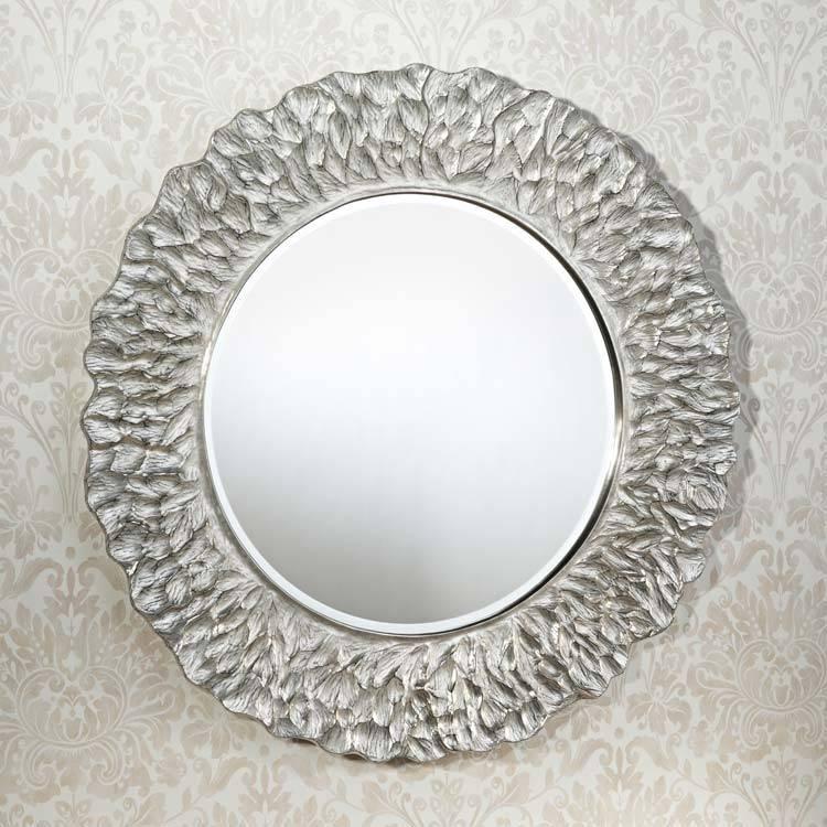 Deknudt Gold Leaf Round Mirror | Modern Designer Mirrors | 4 Living For Contemporary Round Mirrors (View 8 of 20)