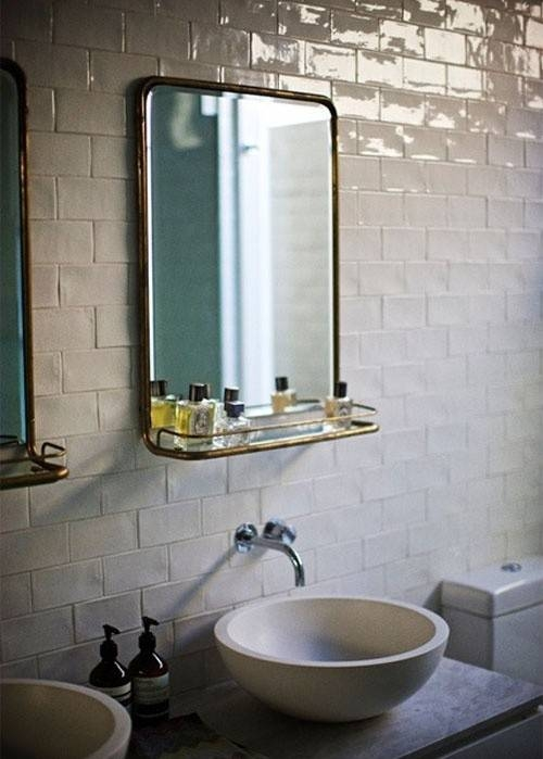 Design Sleuth: 5 Bathroom Mirrors With Shelves – Remodelista Pertaining To French Bathroom Mirrors (#18 of 30)