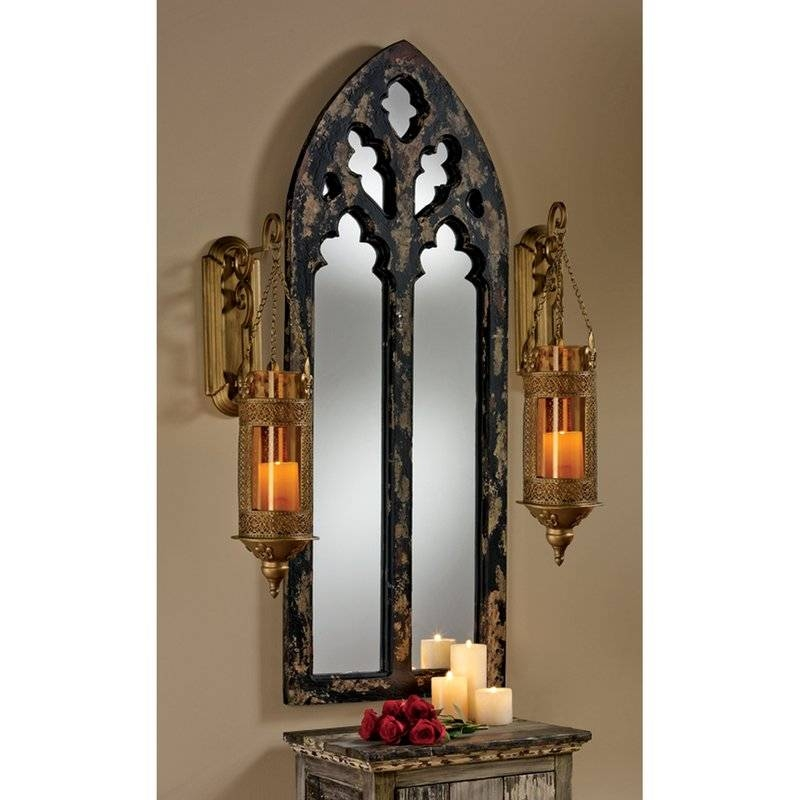 Design Toscano Gothic Cathedral Arch Wall Mirror & Reviews   Wayfair Intended For Gothic Wall Mirrors (#9 of 20)