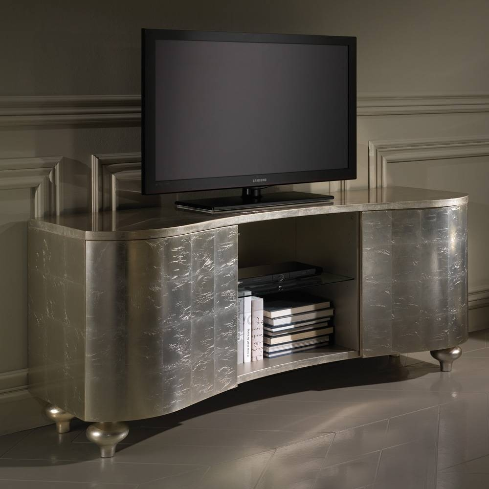 Designer Italian Champagne Leaf Media Tv Sideboard | Juliettes Pertaining To Sideboard Tv (#4 of 20)
