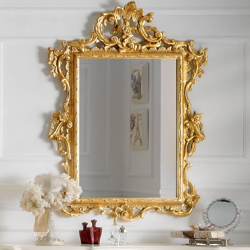 Designer Ivory And Gold Leaf Dressing Table And Mirror Set In Gold Dressing Table Mirrors (#11 of 30)