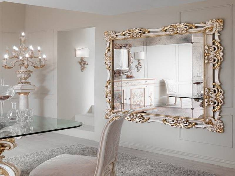 Designer Wall Mirror, Beauty N Large Designer Wall Mirrors Large Intended For White Baroque Wall Mirrors (#14 of 20)