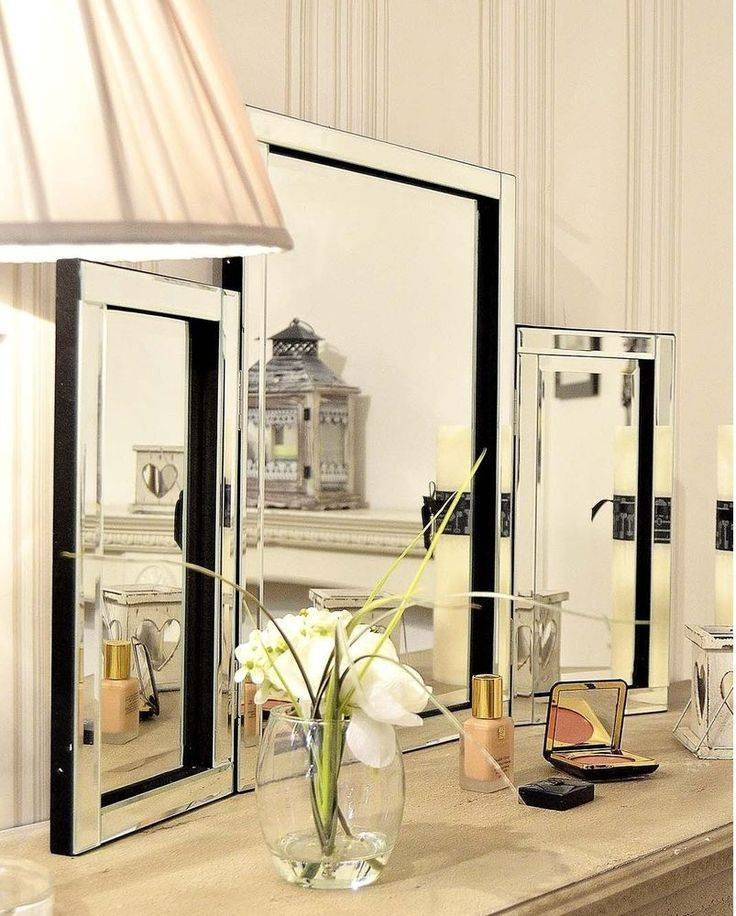 Details About Venetian Modern Folding Free Standing Large Dressing Pertaining To Free Standing Dressing Table Mirrors (#12 of 30)