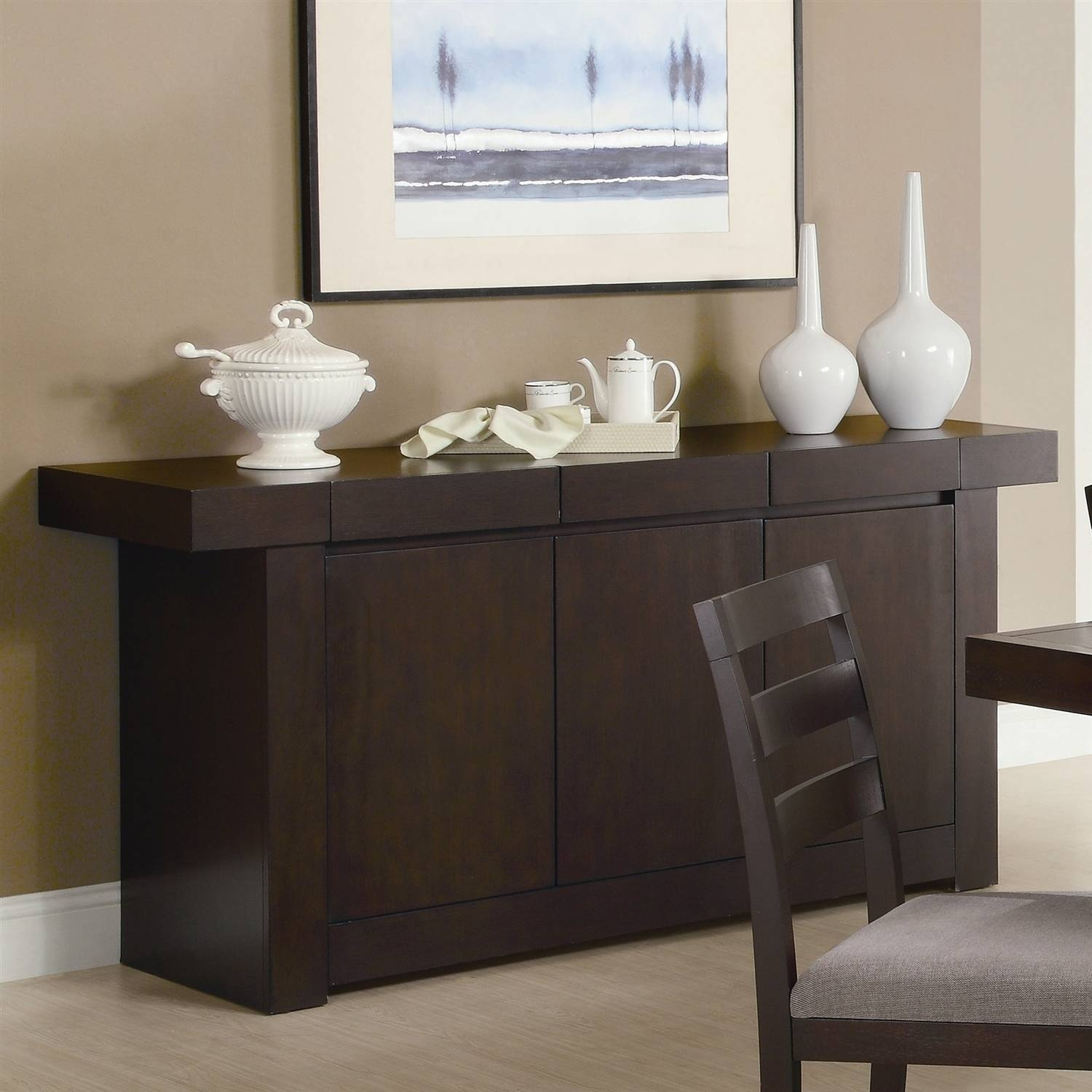 Dining Room : Lovely Sideboard And Hutch Furniture Dining Room Inside Contemporary Sideboard Cabinet (View 15 of 20)