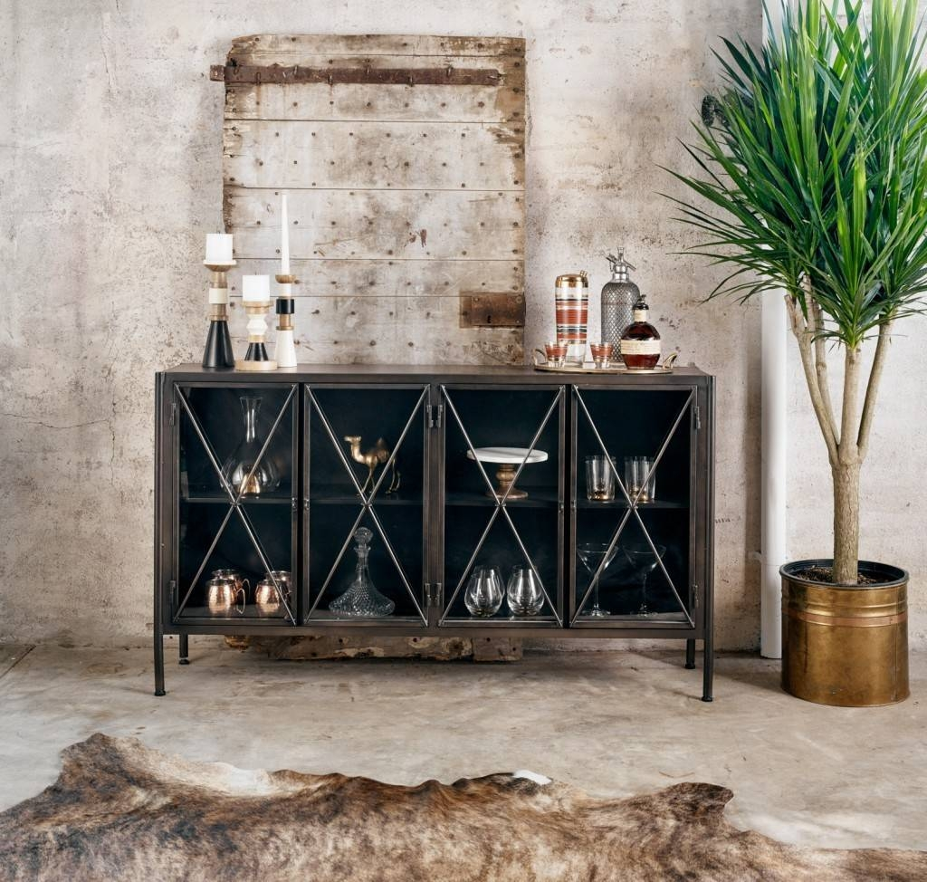 Dining Room Sideboards & Buffet Decor | Zin Home Blog Inside Metal Sideboards Furniture (#9 of 20)