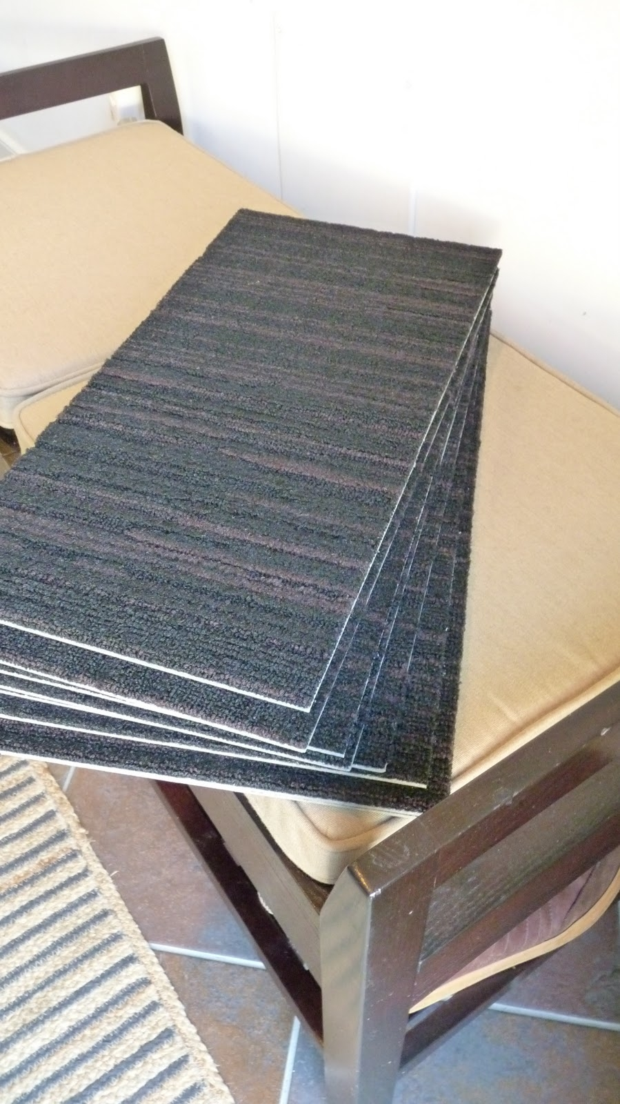 Disabella Design Diy Carpet Stair Treads Within Stair Tread Carpet Tiles (#5 of 20)