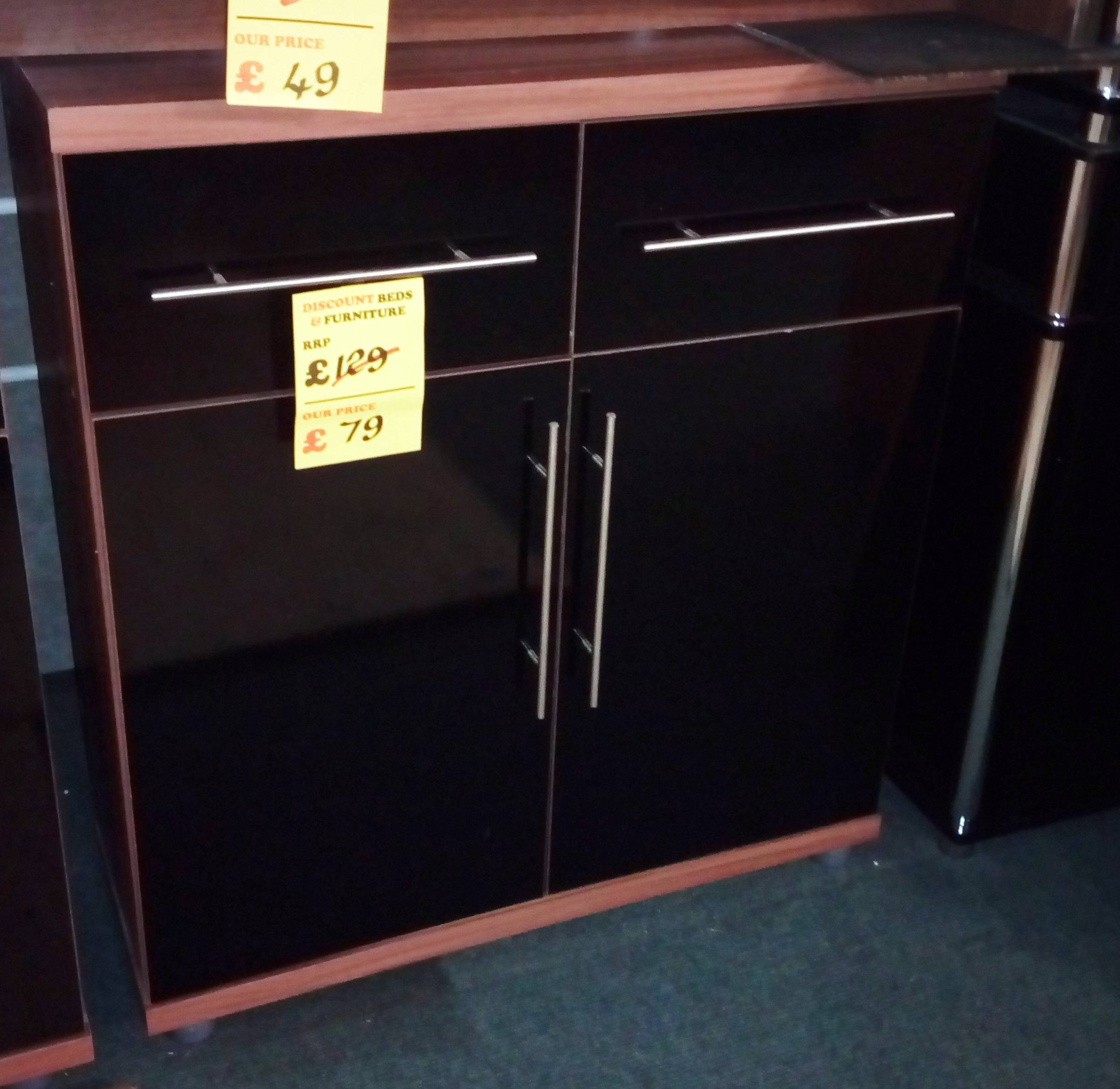 Discounted Nests Of Tables, Cabinet Furniture, Occasional Pieces Regarding Black And Walnut Sideboard (#12 of 20)