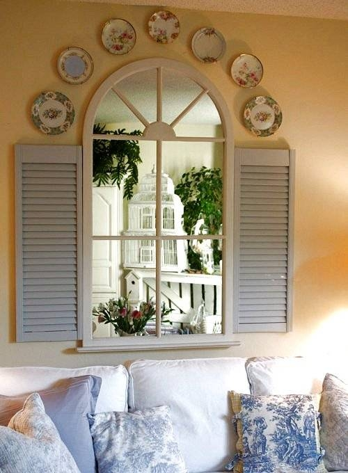 Dishfunctional Designs: Upcycled: New Ways With Old Window Shutters In Wall Mirrors With Shutters (#14 of 20)