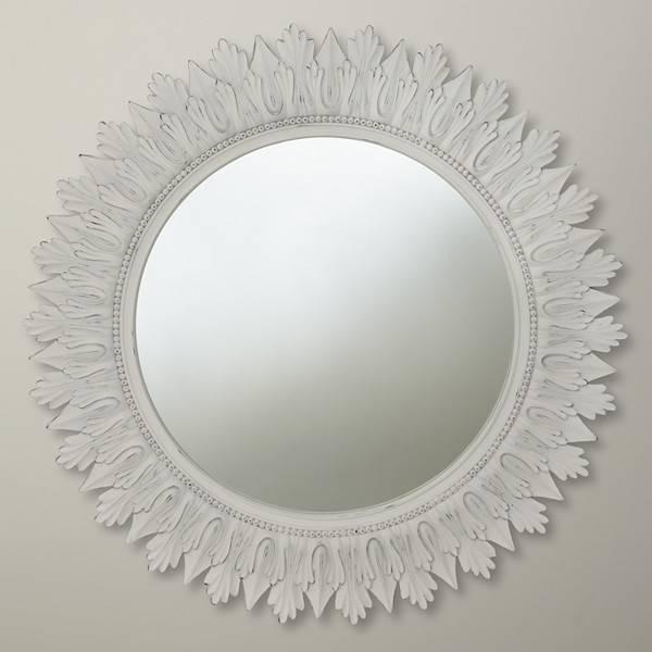 Distinct White Mirrors – In Decors Within Round White Mirrors (#5 of 30)