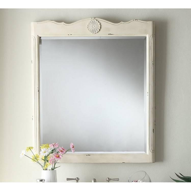 Distressed Cream Mirror With Regard To Distressed Cream Mirrors (#23 of 30)