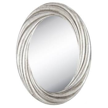 Distressed Silver Twisted Oval Mirror | Hobby Lobby | 1152826 For Silver Oval Mirrors (#7 of 20)