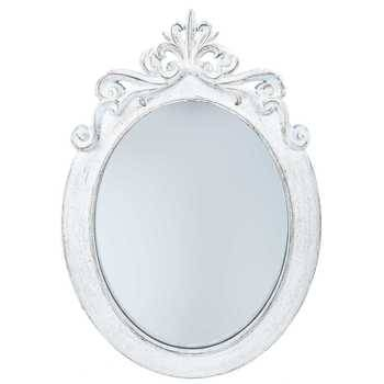Distressed White Styrene Ornate Oval Mirror | Hobby Lobby | 997726 For White Ornate Mirrors (#10 of 20)