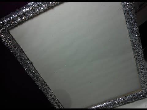 Diy: Glitter Frame ♡ Theeasydiy #roomdecor – Youtube Regarding Glitter Frame Mirrors (#9 of 20)