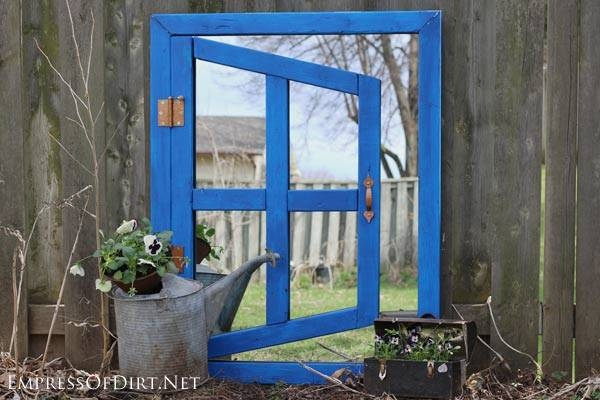 Diy Optical Illusion Garden Mirror – Empress Of Dirt Regarding Garden Window Mirrors (#11 of 20)
