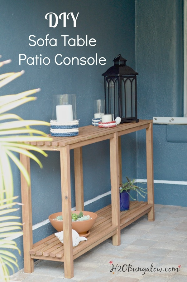 Diy Outdoor Sofa Table Tutorial H20bungalow Pertaining To Patio Sofa Tables (#9 of 15)
