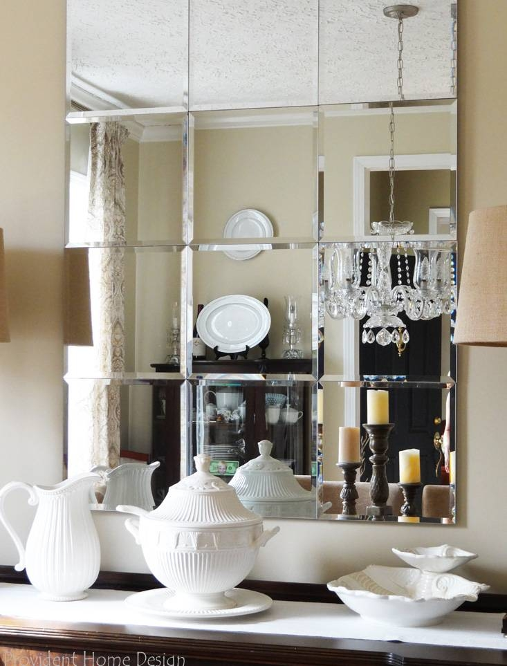 Diy Pottery Barn Brinkley Mirror Knockoff In Small Bevelled Mirrors (#22 of 30)