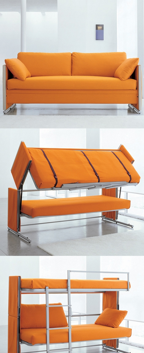 Doc Is A Sofa That Turns Into A Bunk Bed Inside Sofa Bunk Beds (#6 of 15)
