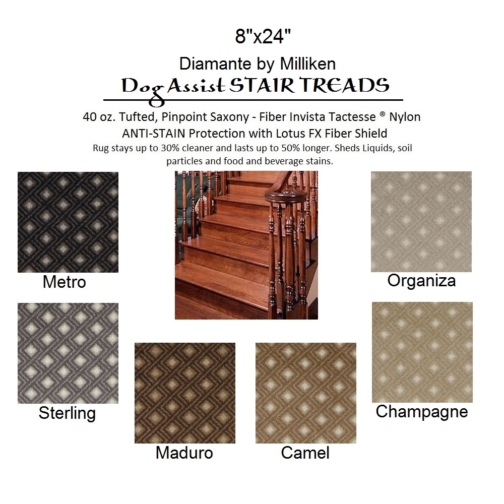 Dog Assist Carpet Stair Treads Intended For Stair Tread Rugs For Dogs (View 2 of 20)