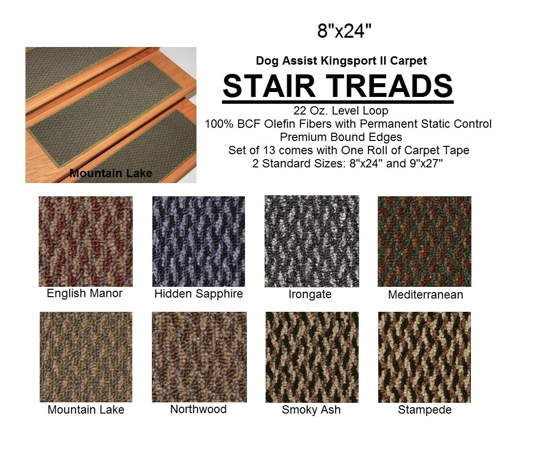 Dog Assist Carpet Stair Treads Pertaining To Carpet Stair Treads For Dogs (#7 of 20)