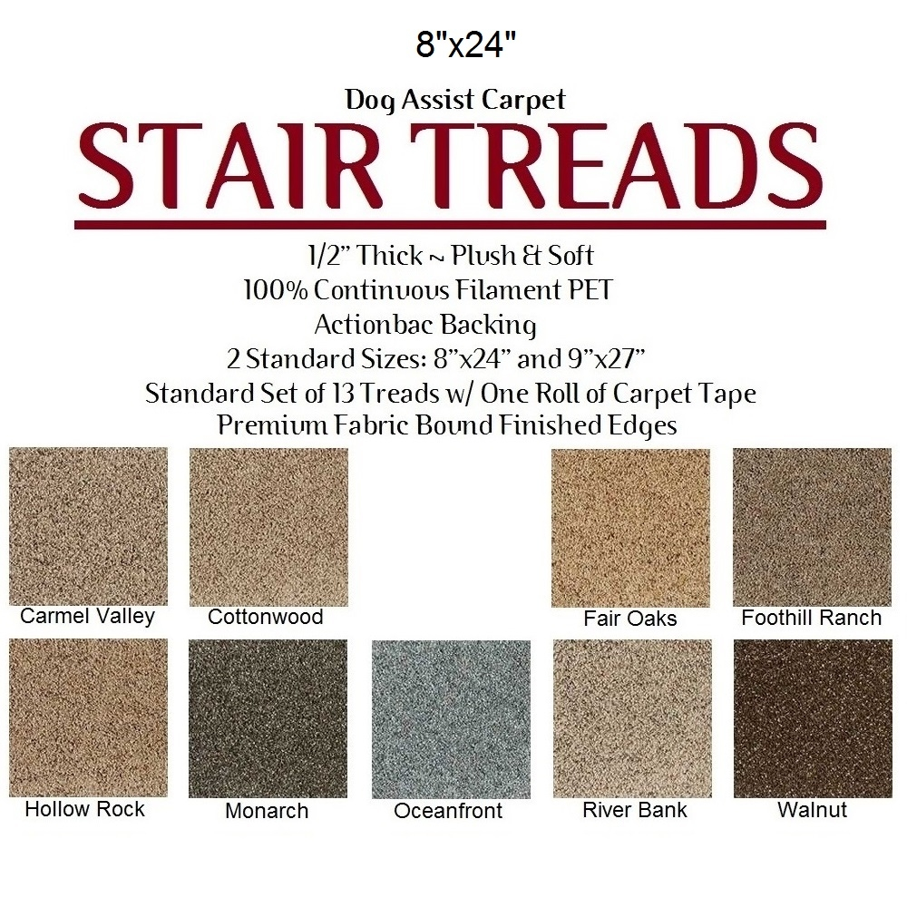 Dog Assist Carpet Stair Treads Pertaining To Oval Stair Tread Rugs (#6 of 20)