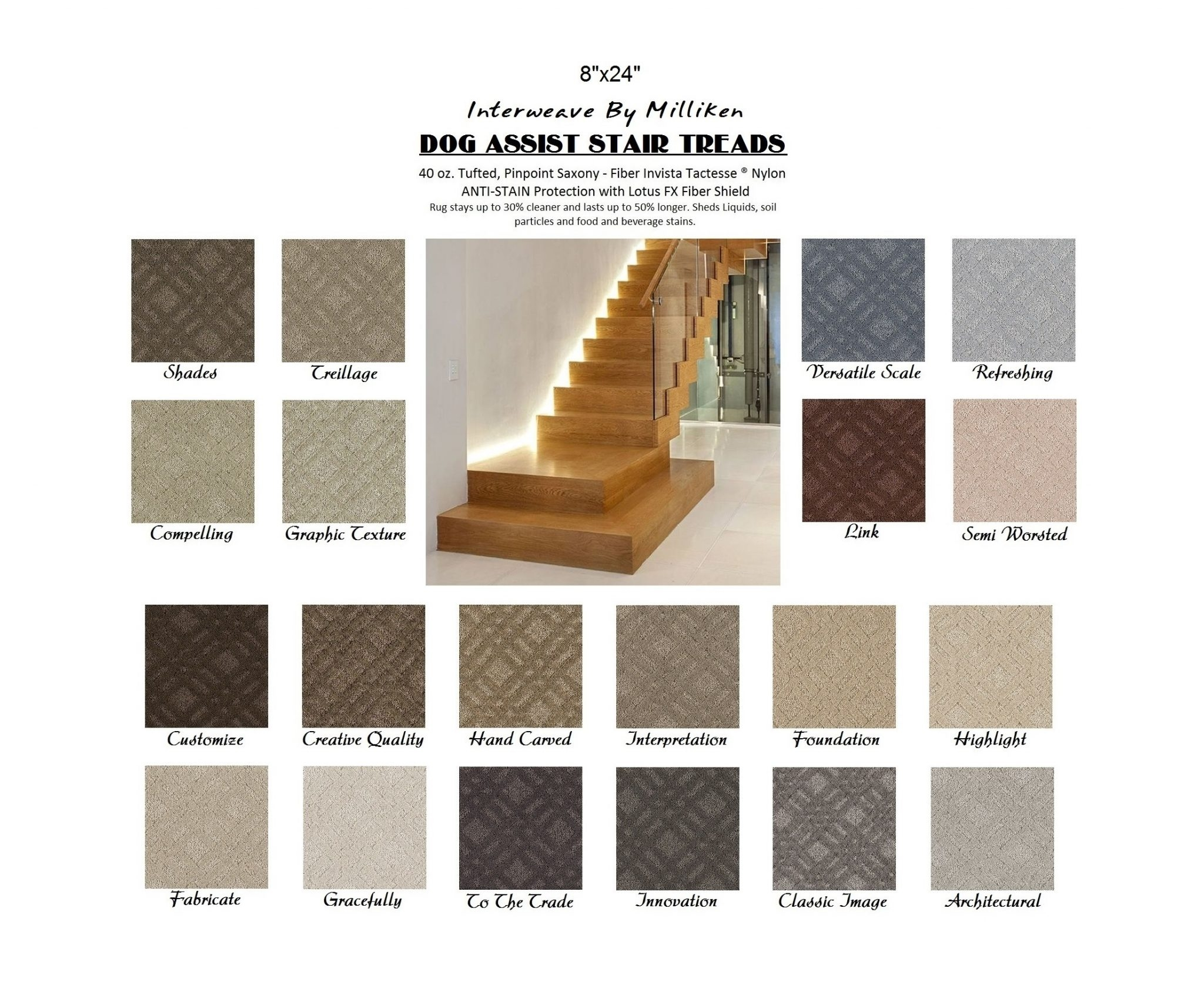 Dog Assist Carpet Stair Treads With Traction Pads For Stairs (#9 of 20)