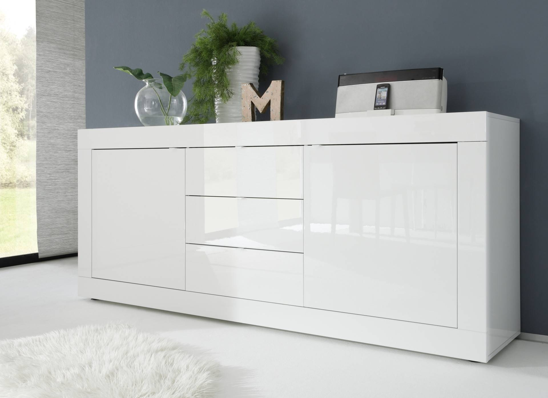 Popular Photo of White Gloss Sideboards