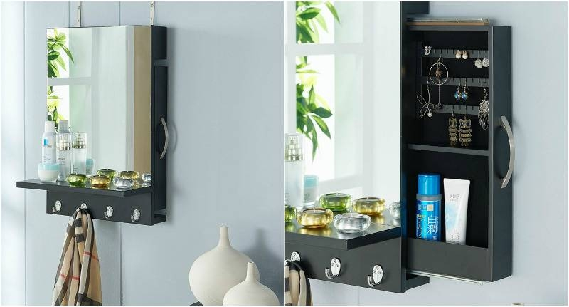 Double Duty: 10 Mirrors That Do More Than Just Reflect Your Inside Black Cabinet Mirrors (#22 of 30)