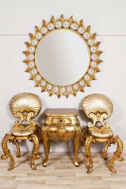 Download Decorative Gold Mirrors | Gen4Congress Within Large Round Gold Mirrors (#21 of 30)