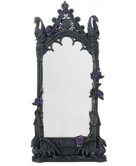 Dragon Beauty Gothic Wall Mirror Intended For Gothic Wall Mirrors (#10 of 20)
