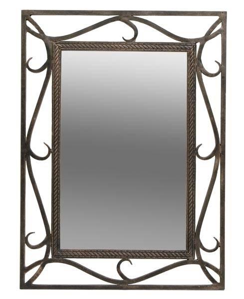 30 best ideas of wrought iron bathroom mirrors for Wrought iron bathroom furniture