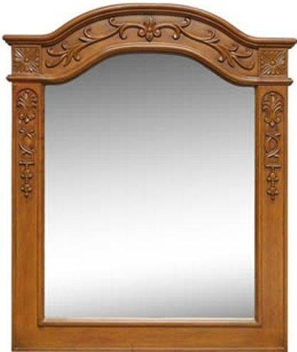 Dreamline Dlmbj 01Ao Portrait Mirror, Solid Wood Frame With Hand In Antique Oak Mirrors (#15 of 20)