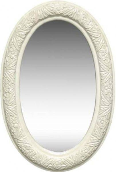 Dreamline Dlmbj 03Aw Oval Mirror In Antique White, Solid Wood Regarding Antique White Oval Mirrors (View 2 of 20)