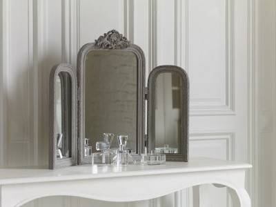 Dressing Table Mirror – Audrey French Style Mirror With Crest With Regard To French Style Dressing Table Mirrors (#8 of 20)