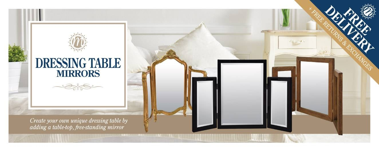 Dressing Table Mirror Range | Mirror Outlet With Regard To Free Standing Mirrors For Dressing Table (#13 of 30)