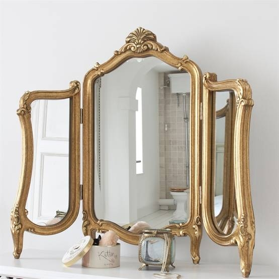 Dressing Table Mirrors | Thinkvanity With Gold Table Mirrors (View 12 of 20)
