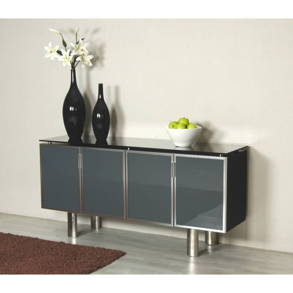 Dublin Metal Framed Glass Sideboard Within Glass Sideboard (#7 of 20)
