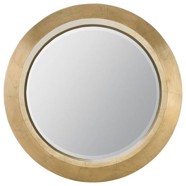 Dynasty Gold Round Mirror – Transitional – Wall Mirrors – For Gold Round Mirrors (View 11 of 20)