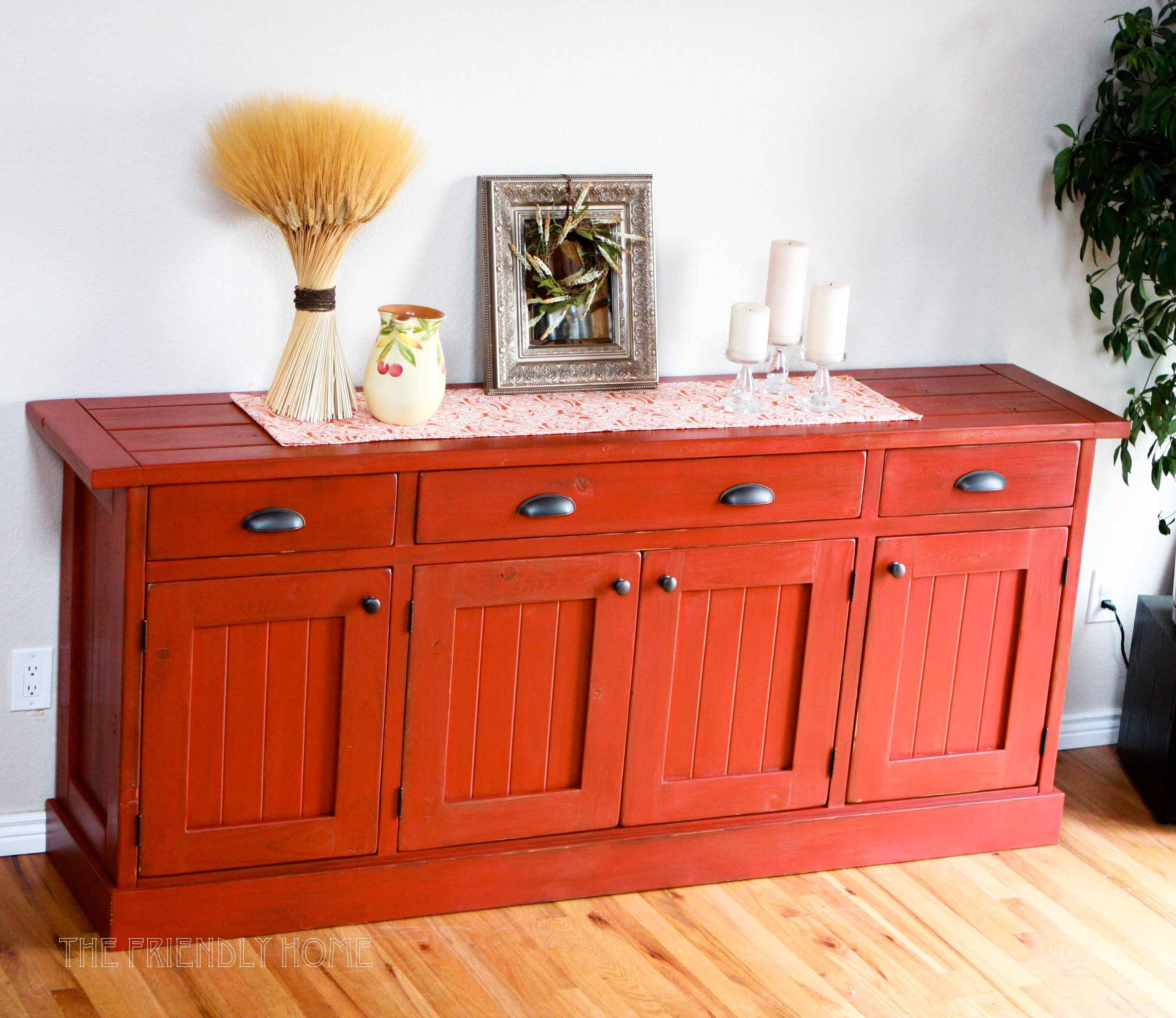 20 Inspirations Of Red Sideboards