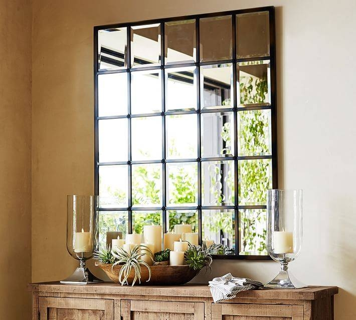 Eagan Multipanel Large Mirror – Bronze | Pottery Barn Pertaining To Large Bronze Mirrors (#15 of 30)