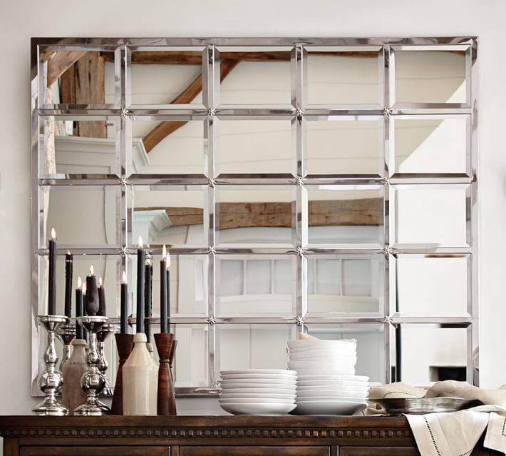 Eagan Multipanel Large Mirror – Silver   Pottery Barn Regarding Large Mirrors (#12 of 20)