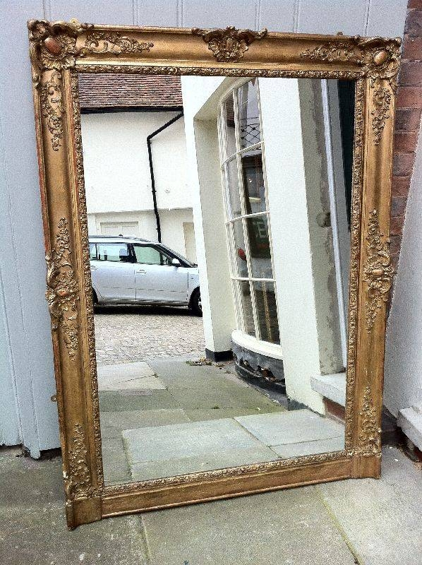Early 19Th Century French Gilt Overmantel Mirror (#11 of 20)
