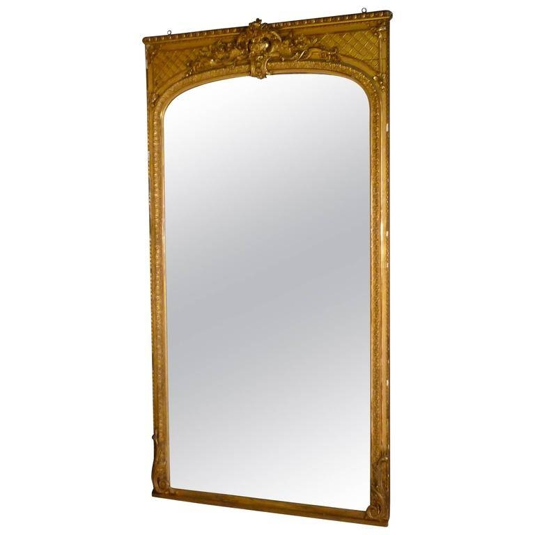 Early 19Th Century Very Large French Gold Mirror, Gilt Console With Gold Gilt Mirrors (#9 of 20)