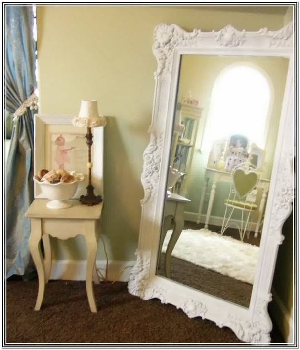 Easel Floor Mirror White | Home Design Ideas With Large White Floor Mirrors (#21 of 30)