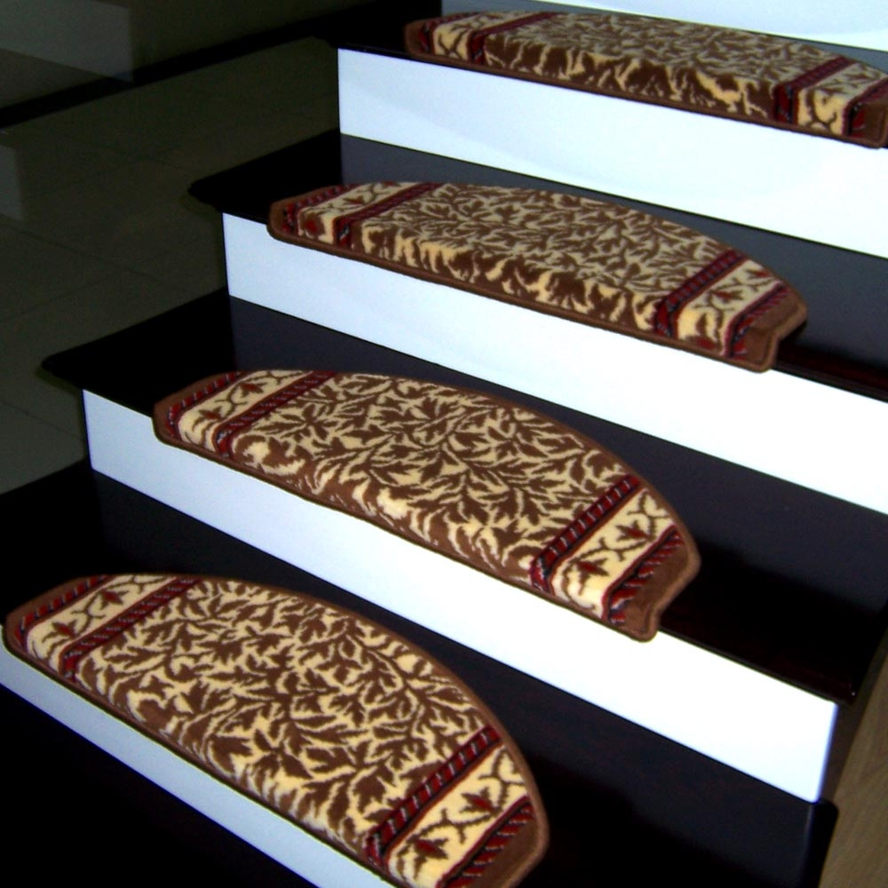 Easy Installing Carpet Stair Treads Home Design Larizza In Rectangular Stair Tread Rugs (#7 of 20)