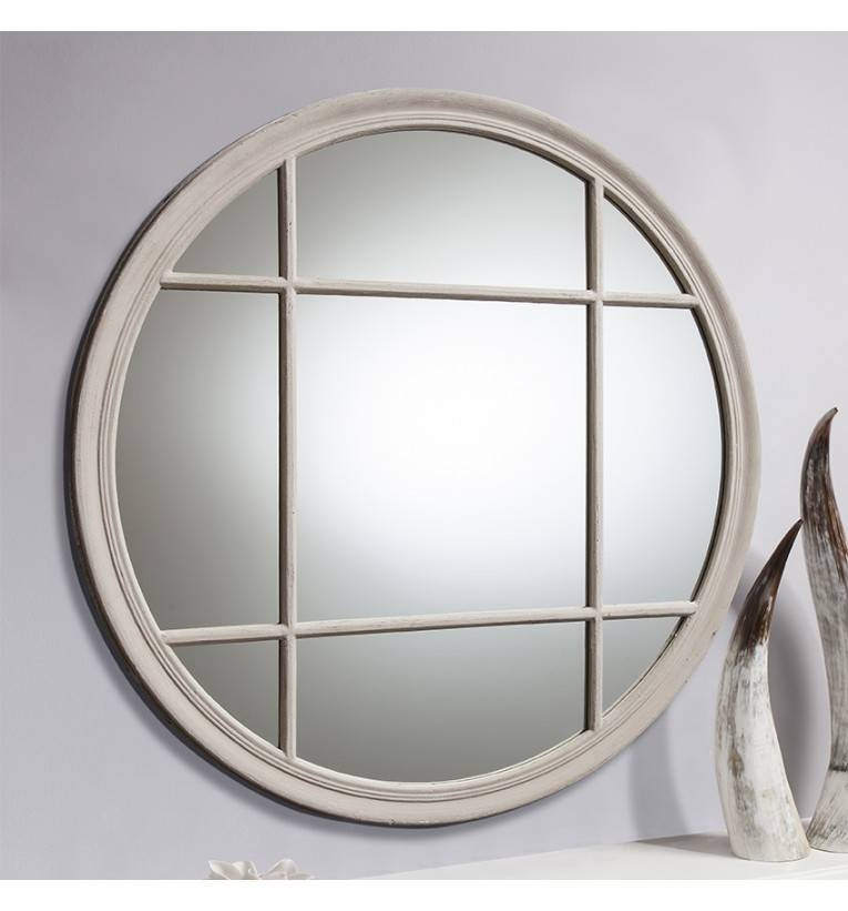 Eccelston Round Window Wall Mirror In Shabby Chic Round Mirrors (#14 of 20)