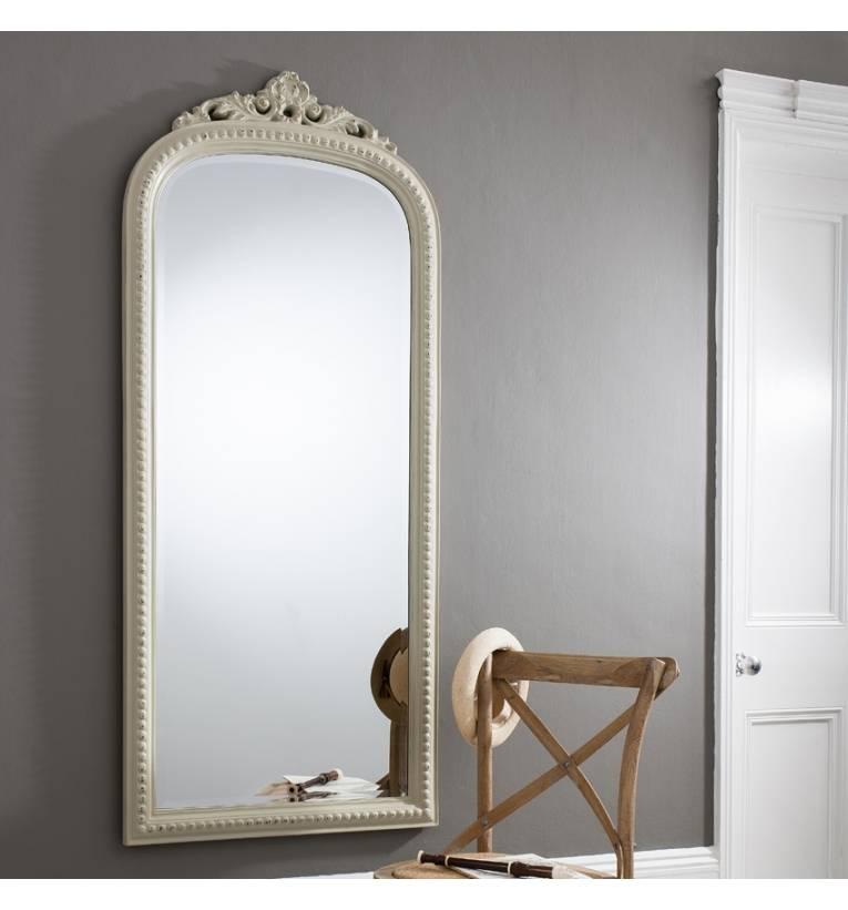 Eden Vintage White 68 X 20 Wall Mirror Eden Vintage White 68 X 20 Within Full Length Antique Mirrors (#13 of 30)